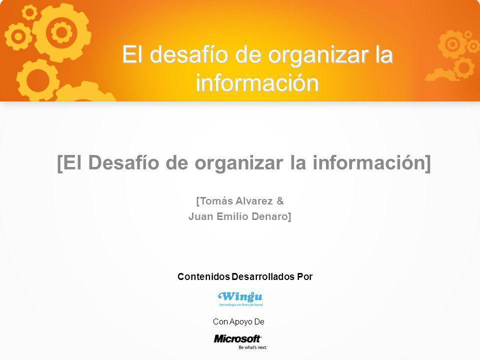 El desafío de organizar la información