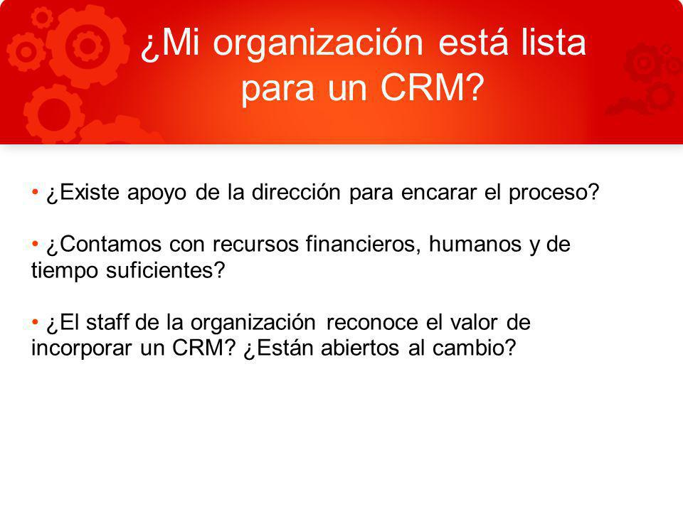¿Mi organización está lista para un CRM