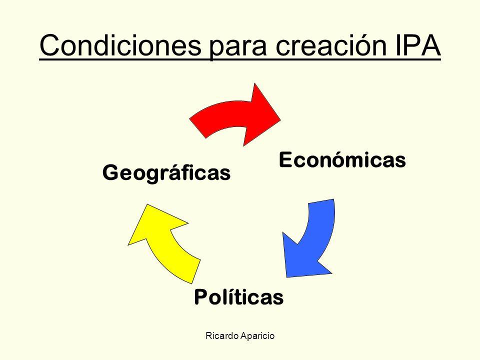 Condiciones para creación IPA