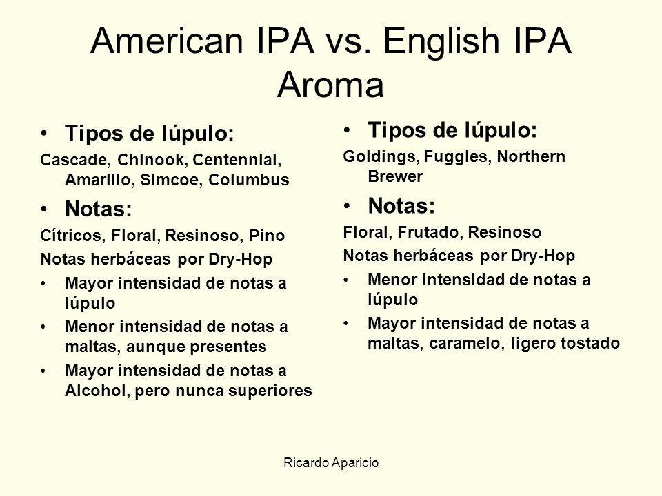 American IPA vs. English IPA Aroma