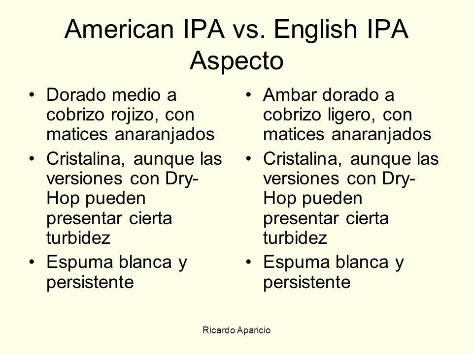 American IPA vs. English IPA Aspecto