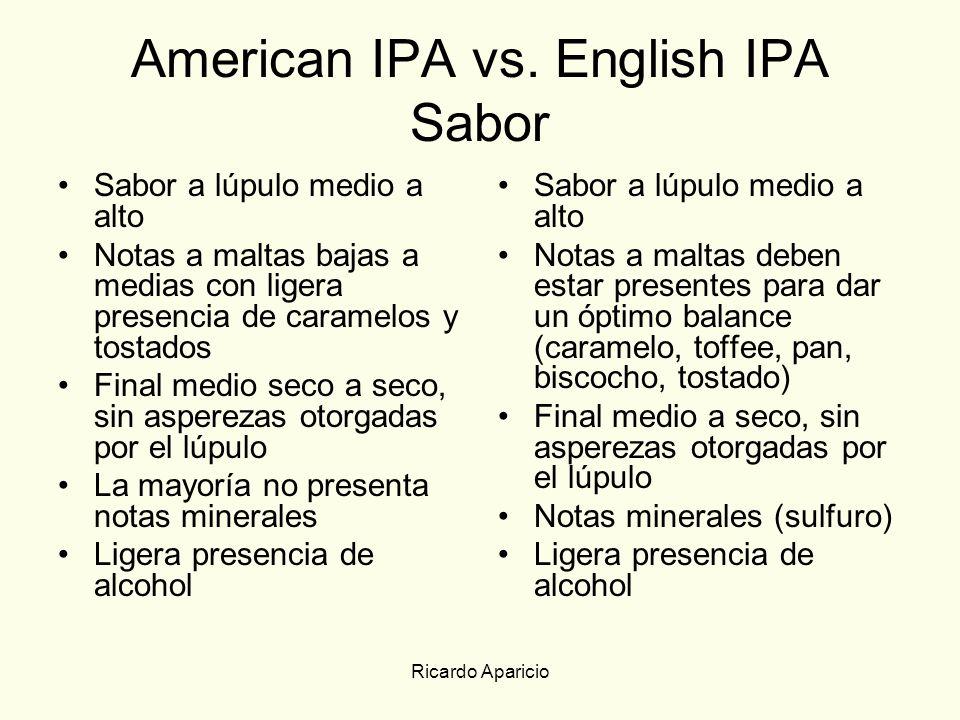 American IPA vs. English IPA Sabor