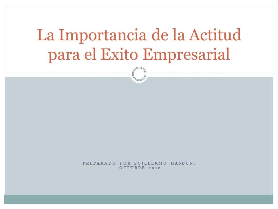 La Importancia de la Actitud para el Exito Empresarial