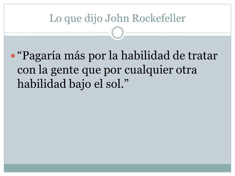 Lo que dijo John Rockefeller