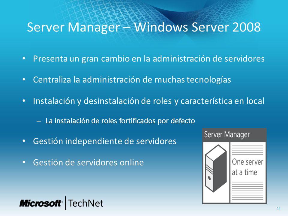 Server Manager – Windows Server 2008