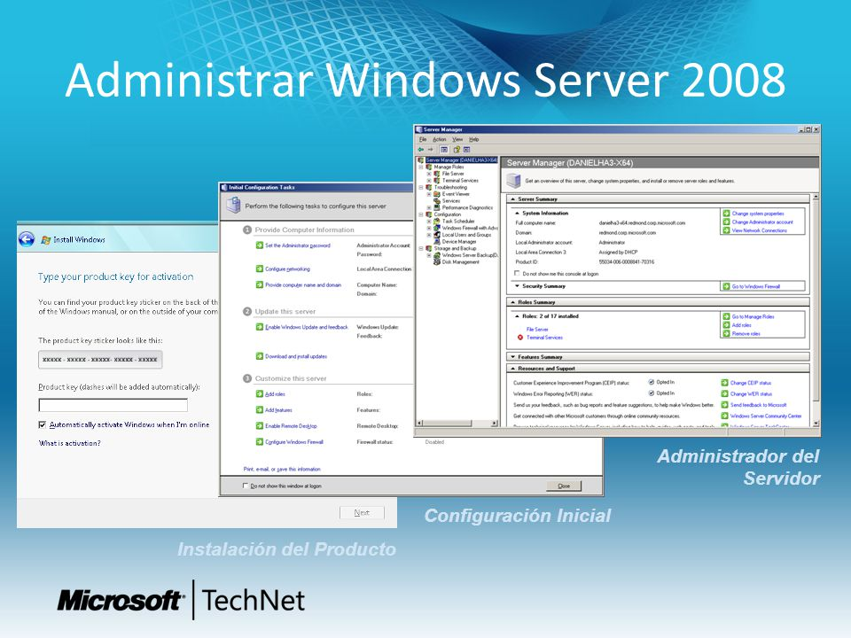 Administrar Windows Server 2008