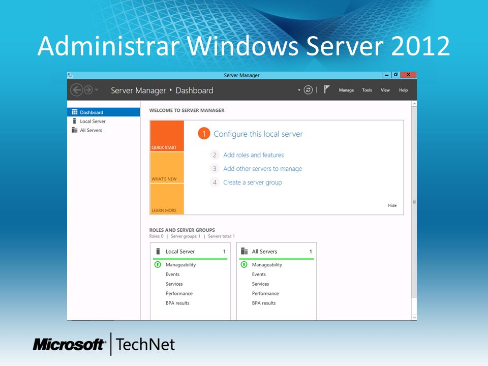 Administrar Windows Server 2012