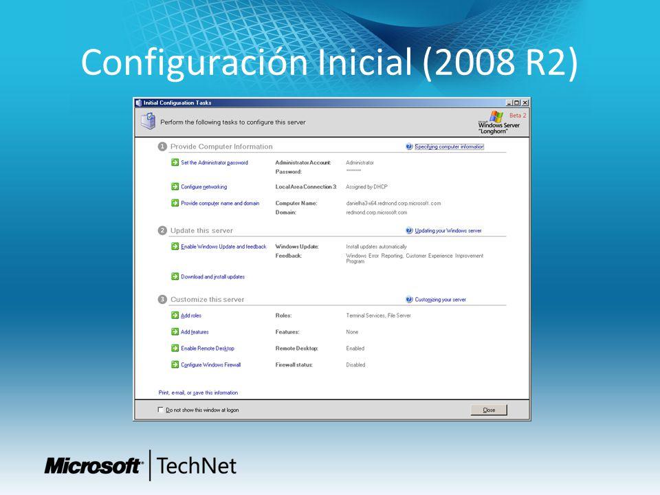 Configuración Inicial (2008 R2)