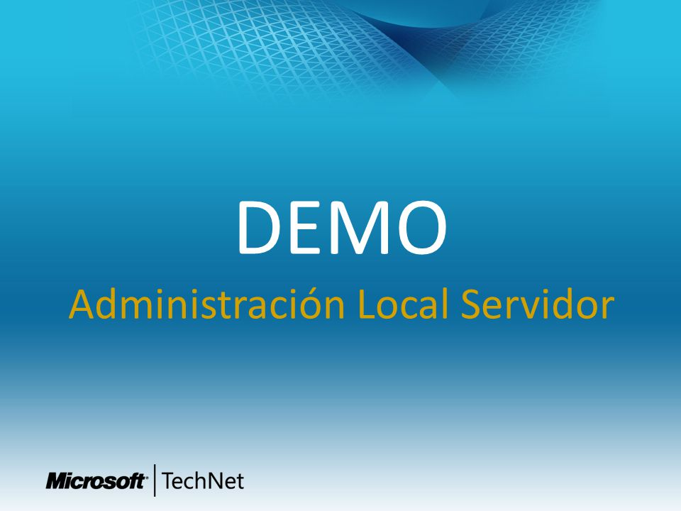 DEMO Administración Local Servidor