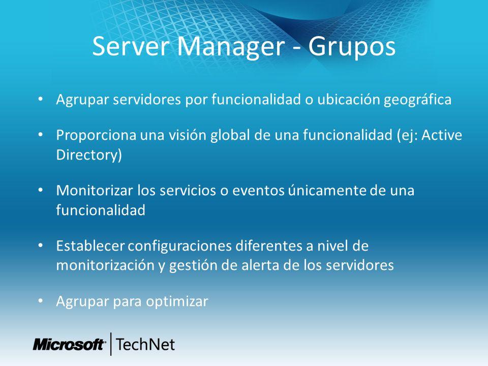 Server Manager - Grupos