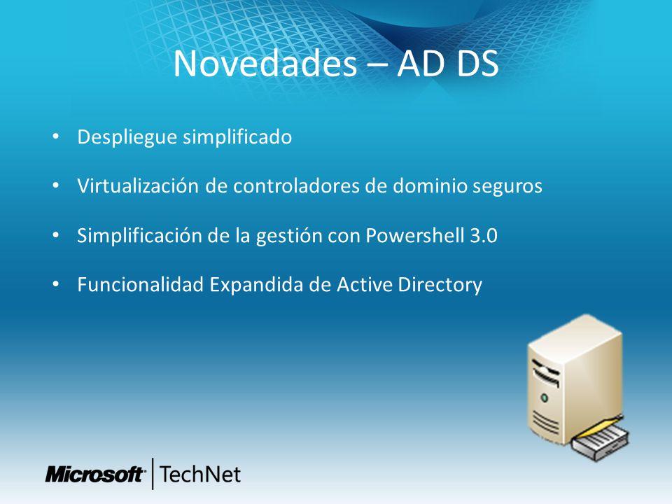Novedades – AD DS Despliegue simplificado