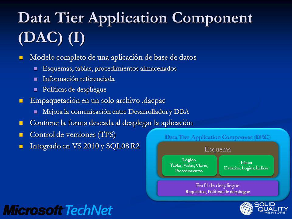 Data Tier Application Component (DAC) (I)