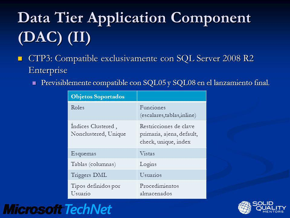 Data Tier Application Component (DAC) (II)