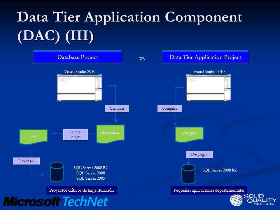 Data Tier Application Component (DAC) (III)