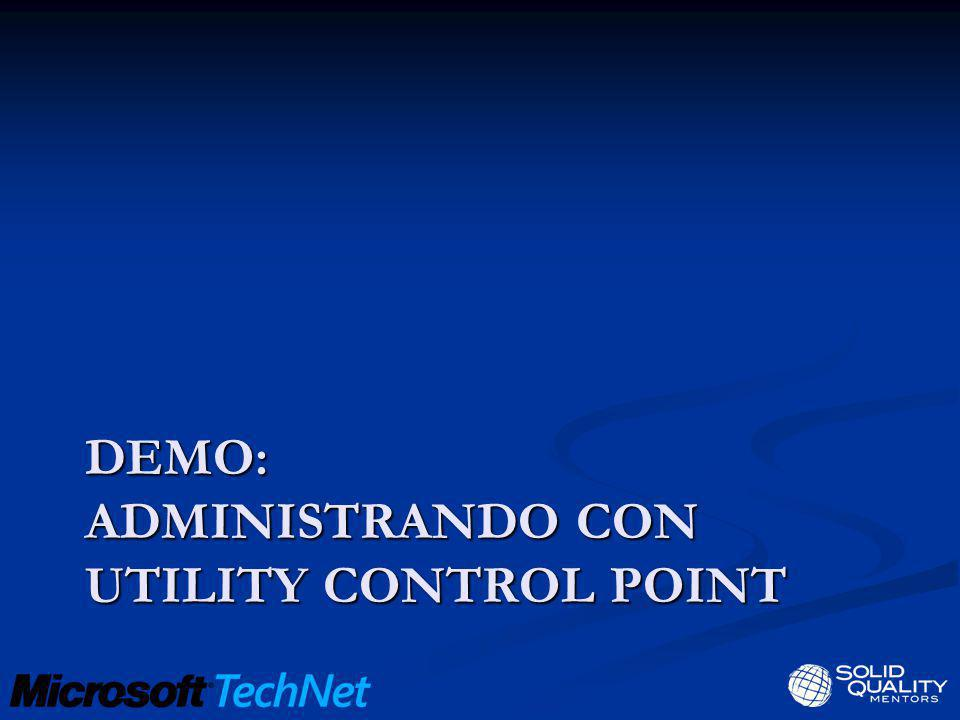 DEMO: administrando con utility control point