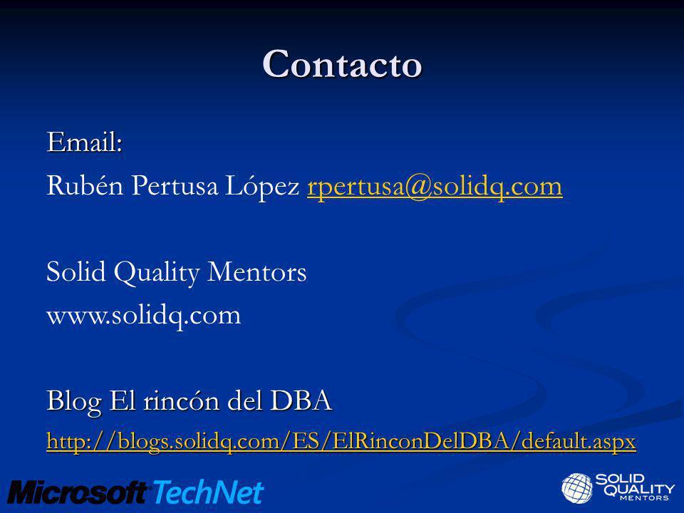Contacto Email: Rubén Pertusa López rpertusa@solidq.com