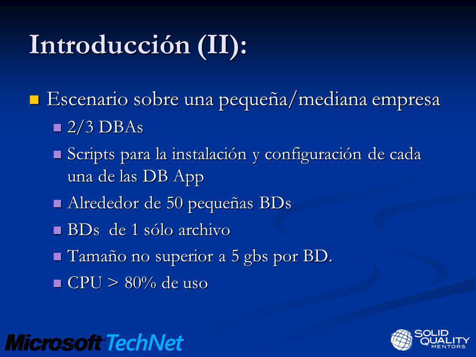Introducción (II): Escenario sobre una pequeña/mediana empresa