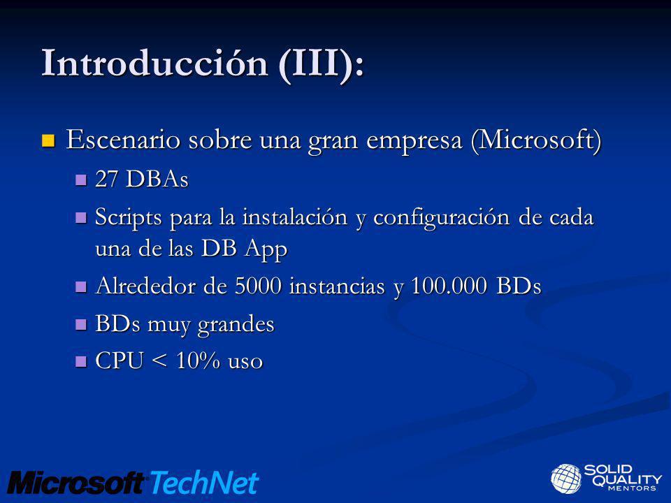 Introducción (III): Escenario sobre una gran empresa (Microsoft)