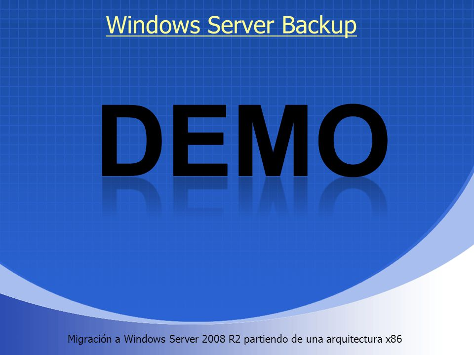DEMO Windows Server Backup