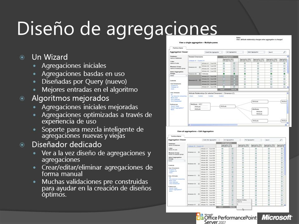 Diseño de agregaciones