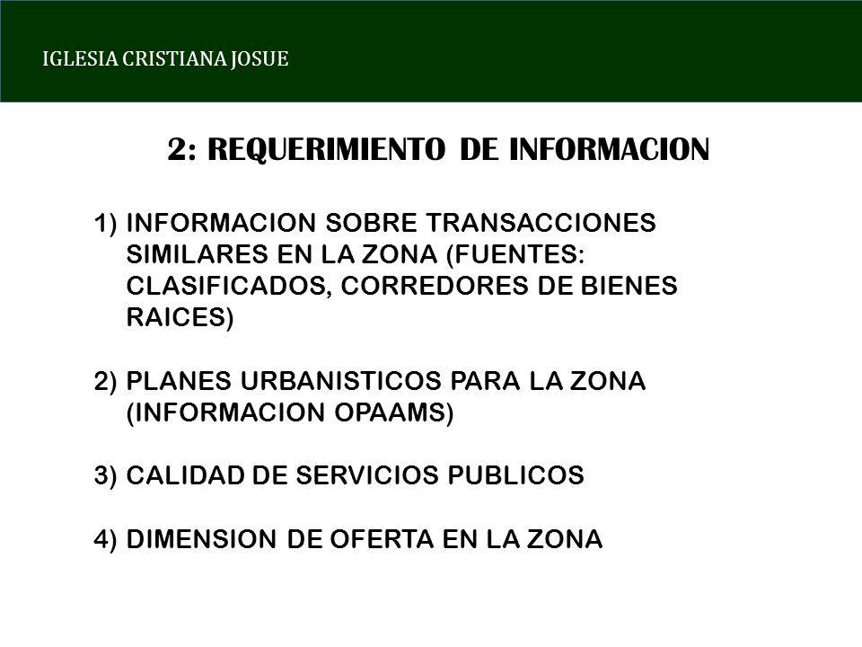 2: REQUERIMIENTO DE INFORMACION