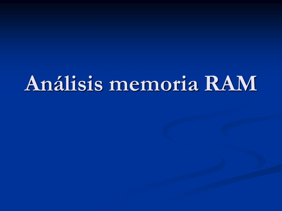 Análisis memoria RAM