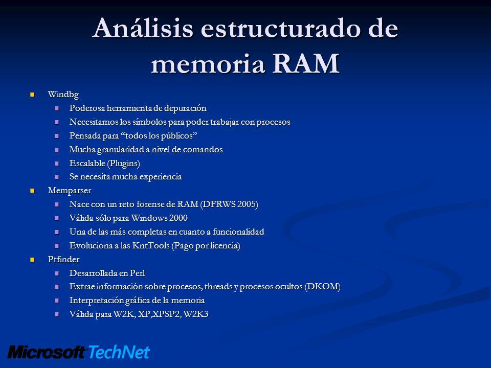 Análisis estructurado de memoria RAM