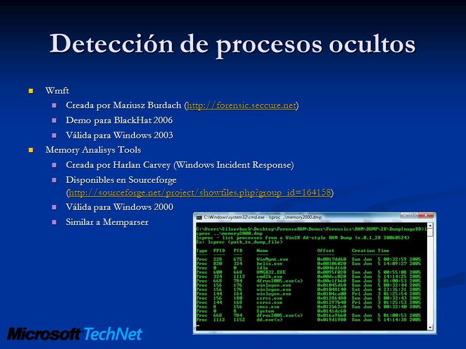 Detección de procesos ocultos