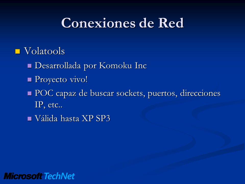 Conexiones de Red Volatools Desarrollada por Komoku Inc Proyecto vivo!