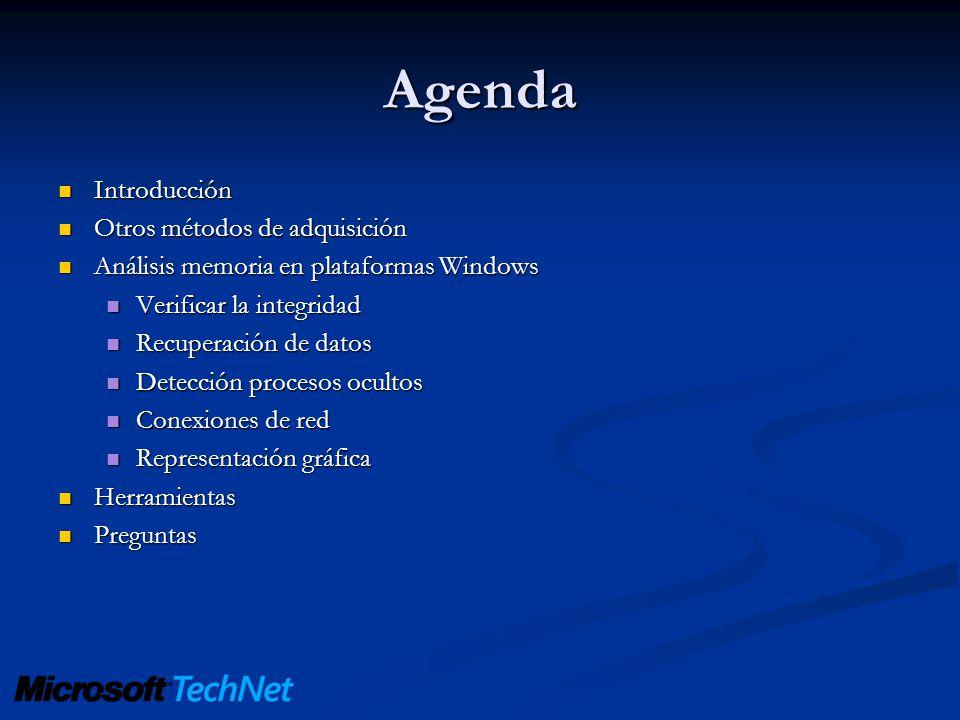 Agenda Introducción Otros métodos de adquisición