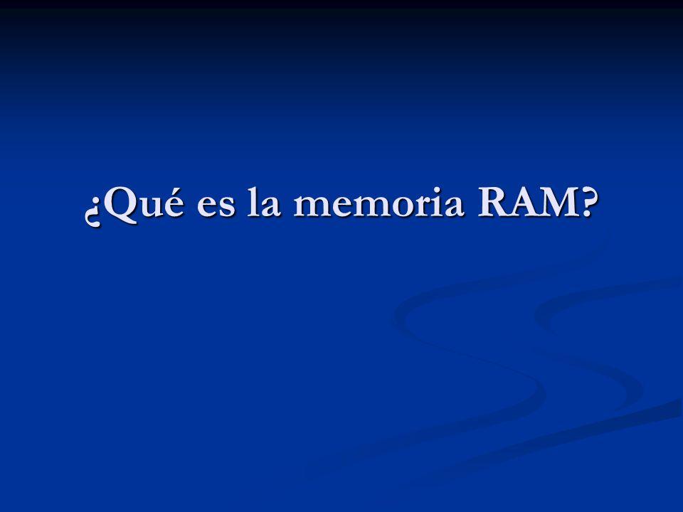 ¿Qué es la memoria RAM
