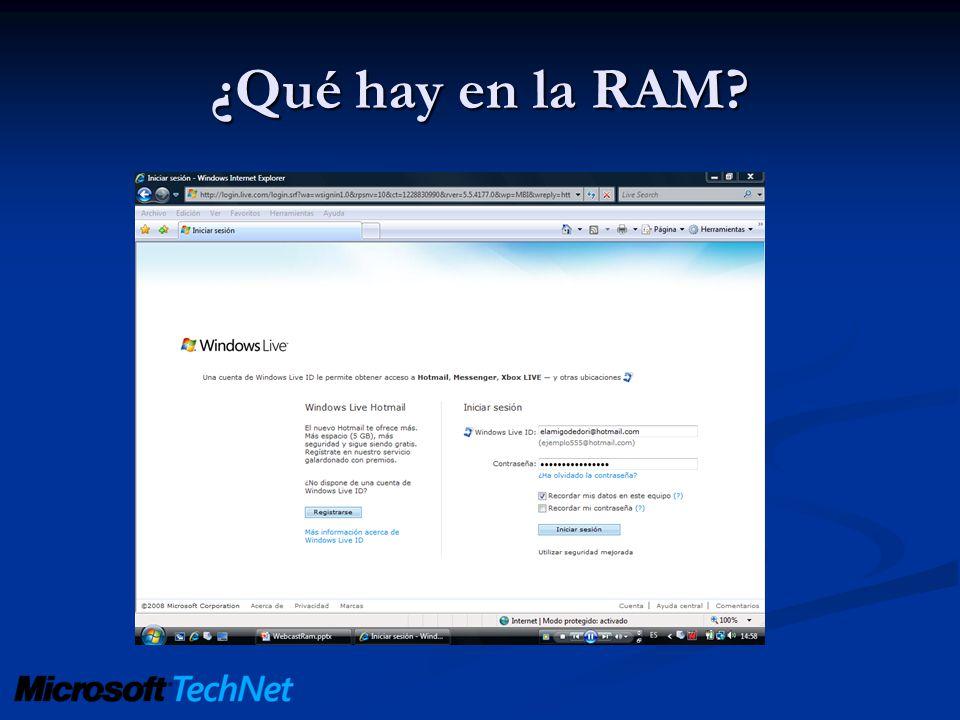 ¿Qué hay en la RAM