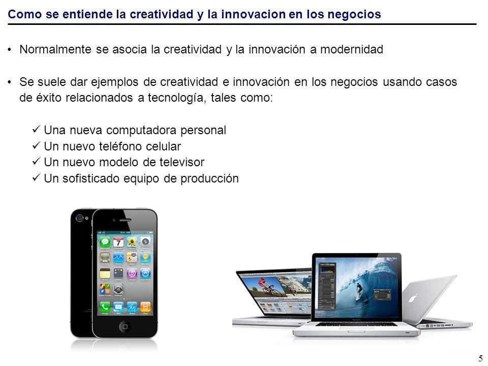 Como se entiende la creatividad y la innovacion en los negocios