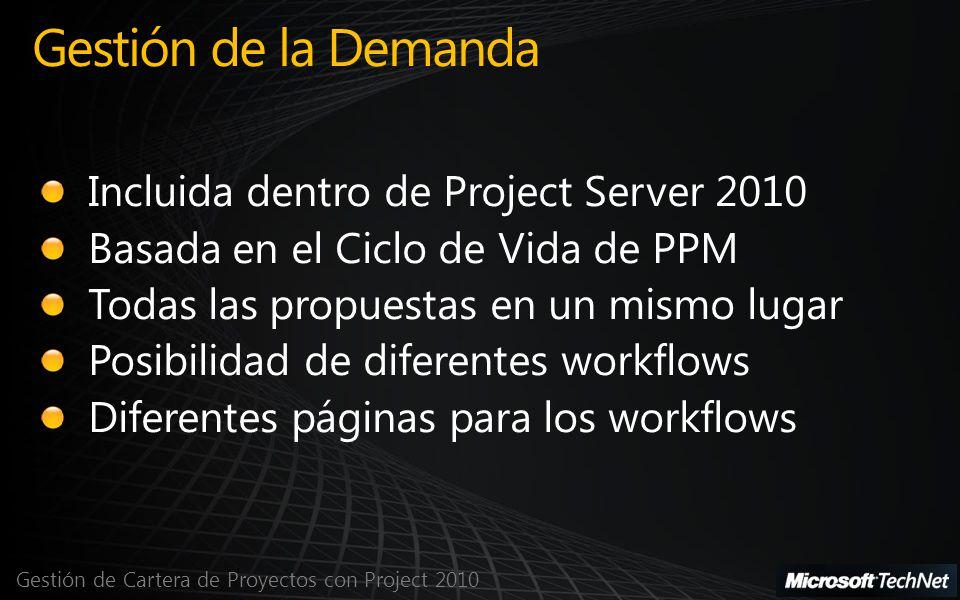 Gestión de la Demanda Incluida dentro de Project Server 2010