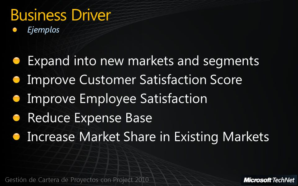 Business Driver Expand into new markets and segments