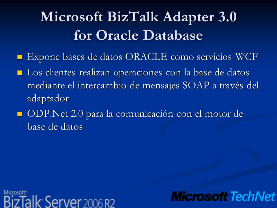 Microsoft BizTalk Adapter 3.0 for Oracle Database