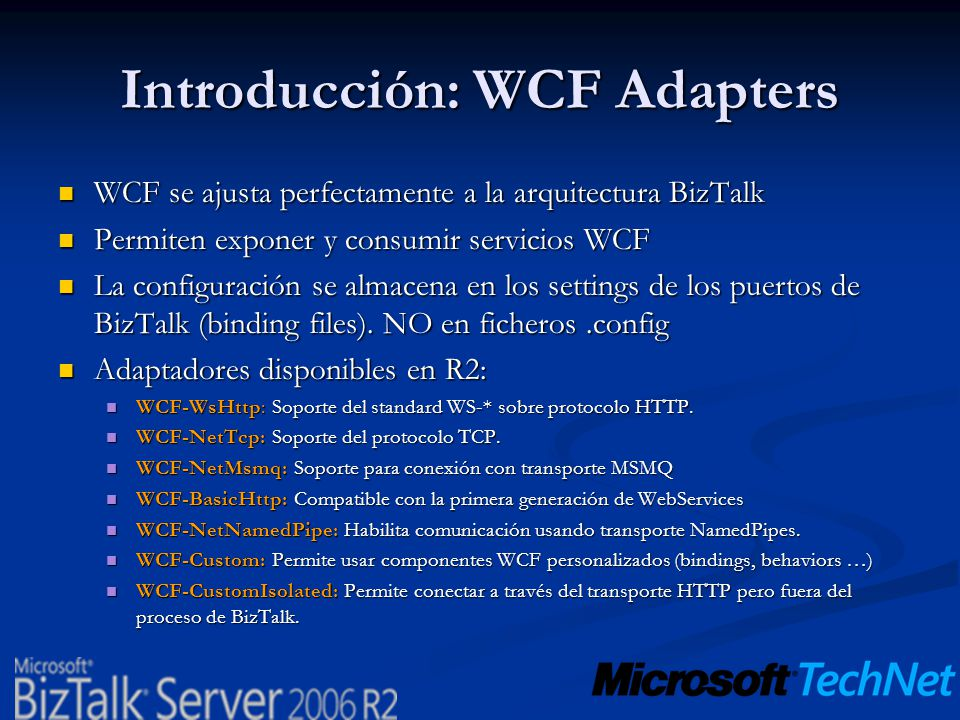 Introducción: WCF Adapters