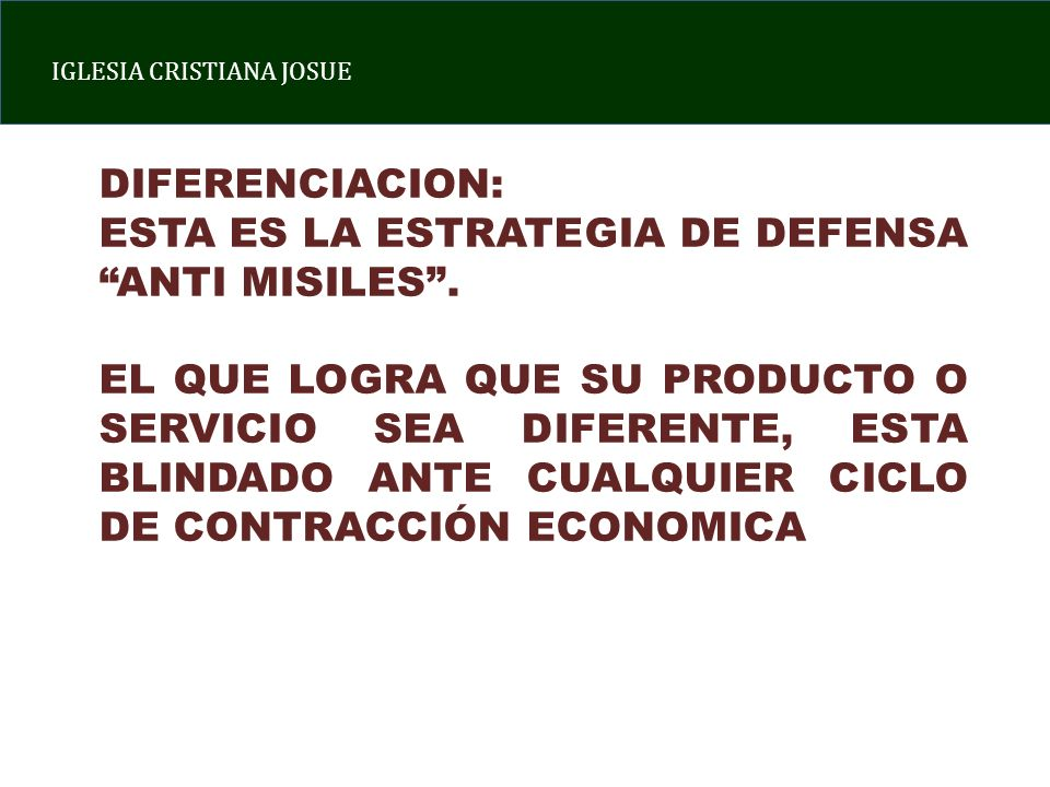 DIFERENCIACION: ESTA ES LA ESTRATEGIA DE DEFENSA ANTI MISILES .