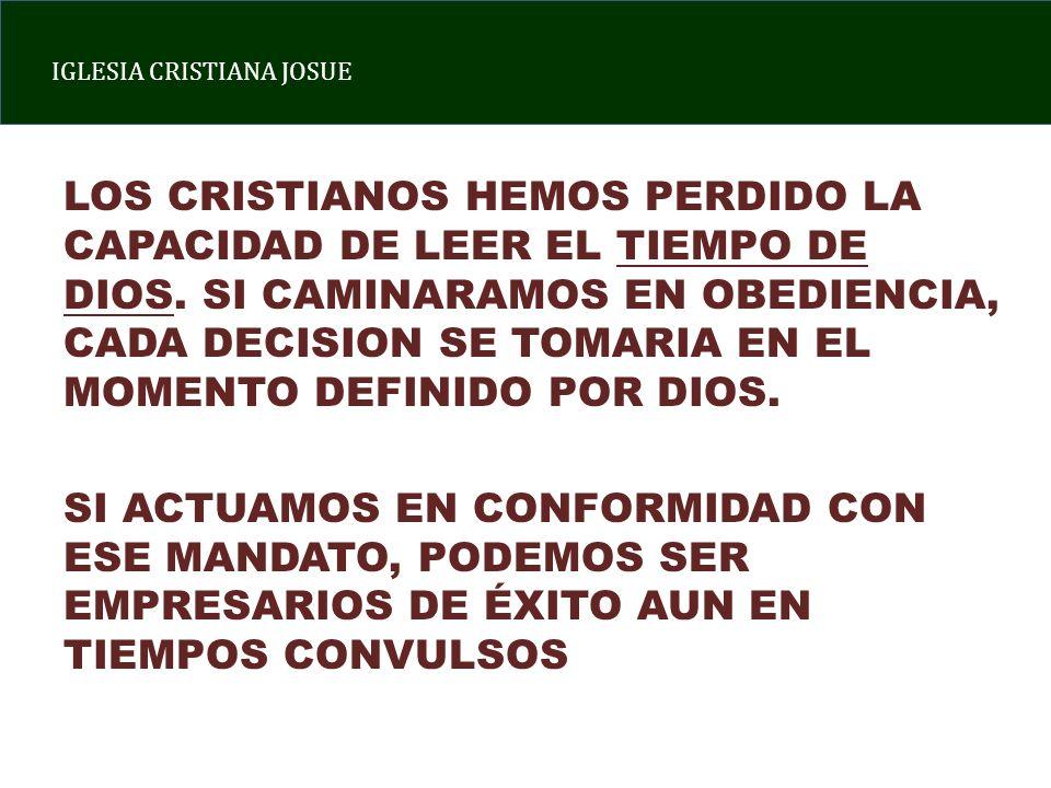 LOS CRISTIANOS HEMOS PERDIDO LA CAPACIDAD DE LEER EL TIEMPO DE DIOS