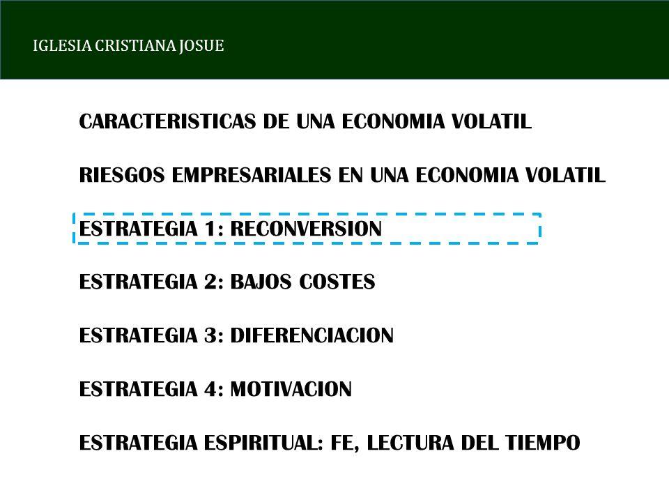 CARACTERISTICAS DE UNA ECONOMIA VOLATIL