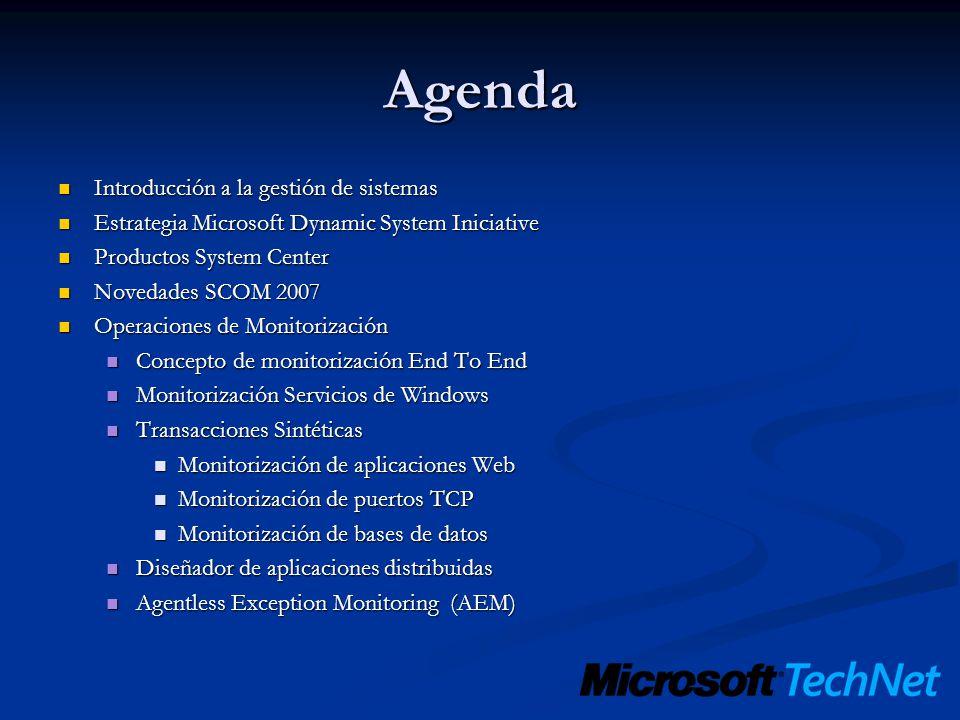 Agenda Introducción a la gestión de sistemas