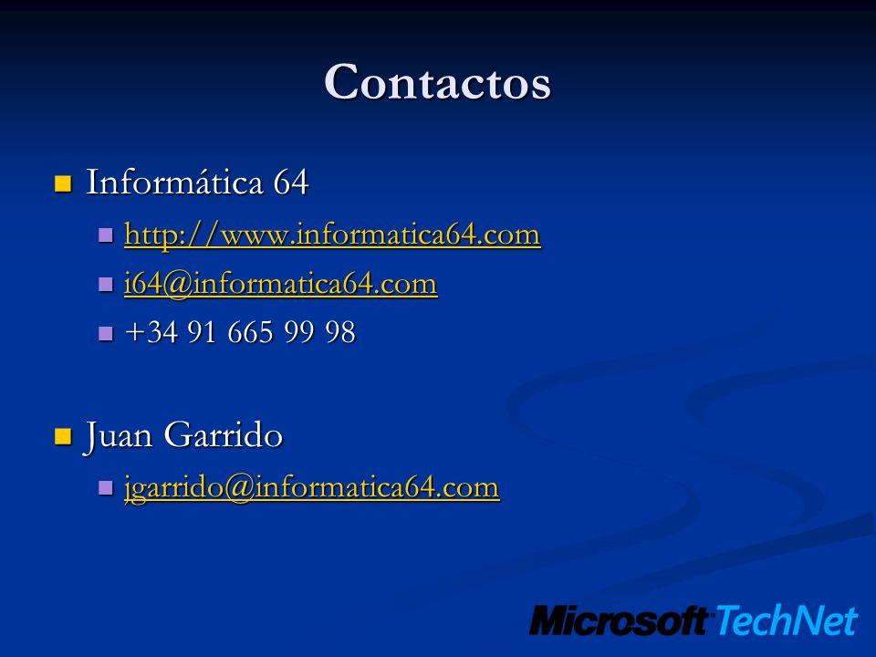 Contactos Informática 64 Juan Garrido http://www.informatica64.com