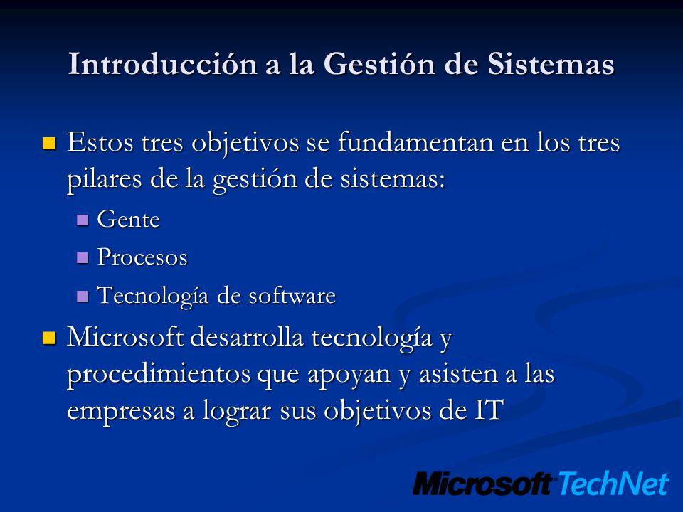 Introducción a la Gestión de Sistemas