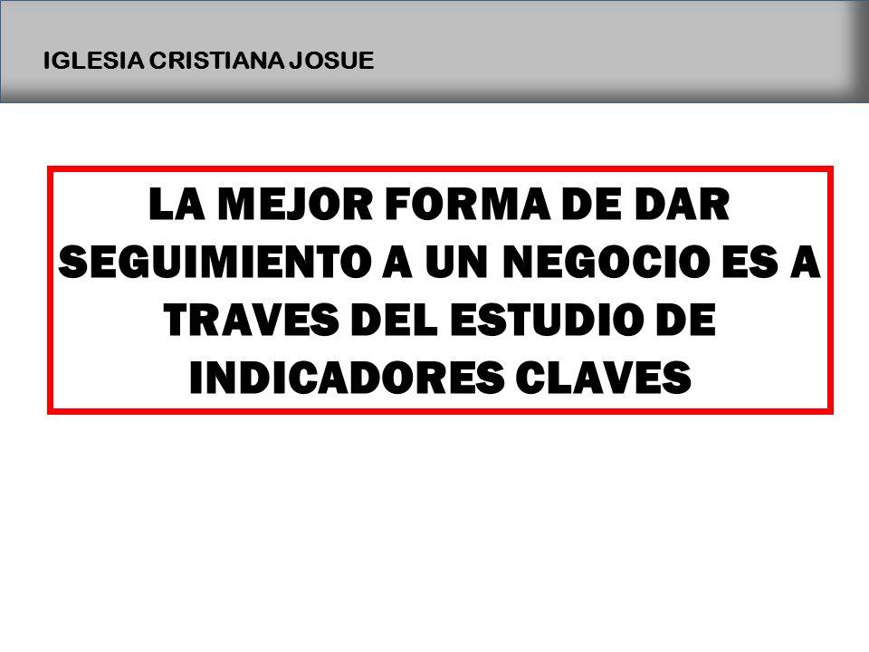 LA MEJOR FORMA DE DAR SEGUIMIENTO A UN NEGOCIO ES A TRAVES DEL ESTUDIO DE INDICADORES CLAVES