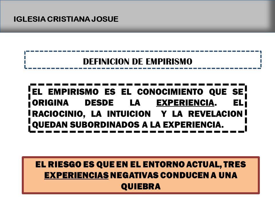 DEFINICION DE EMPIRISMO