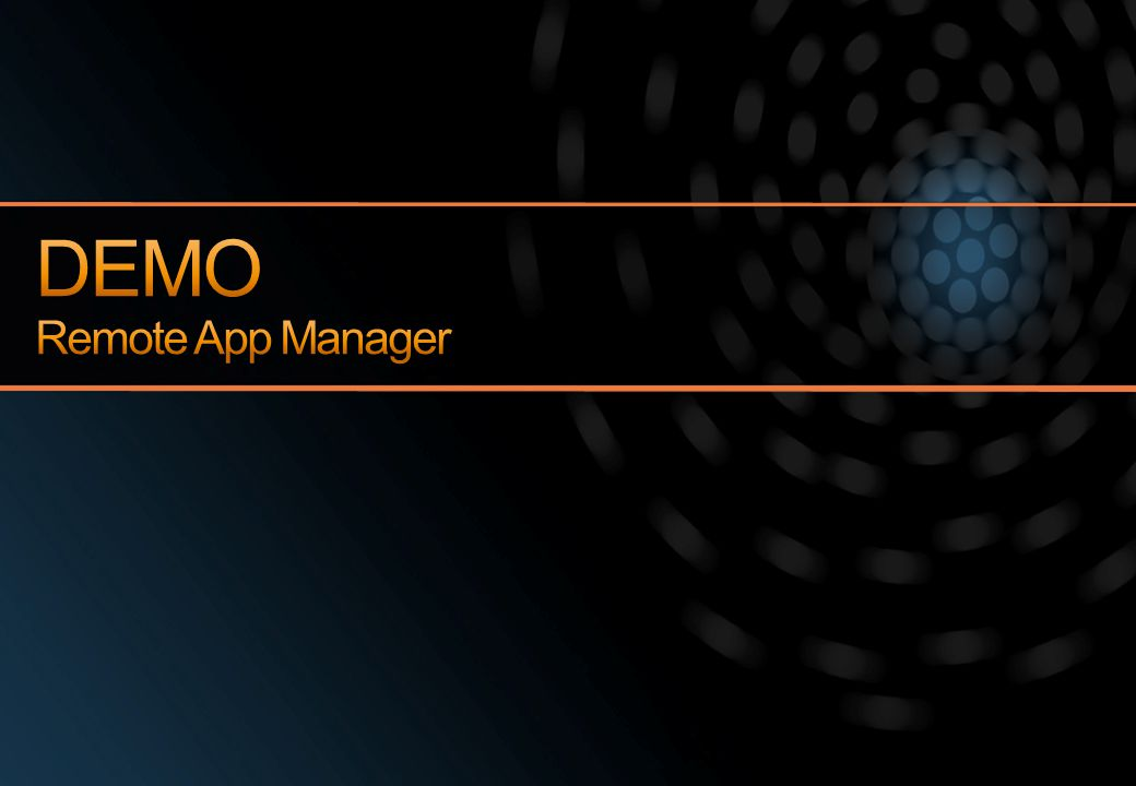 DEMO Remote App Manager