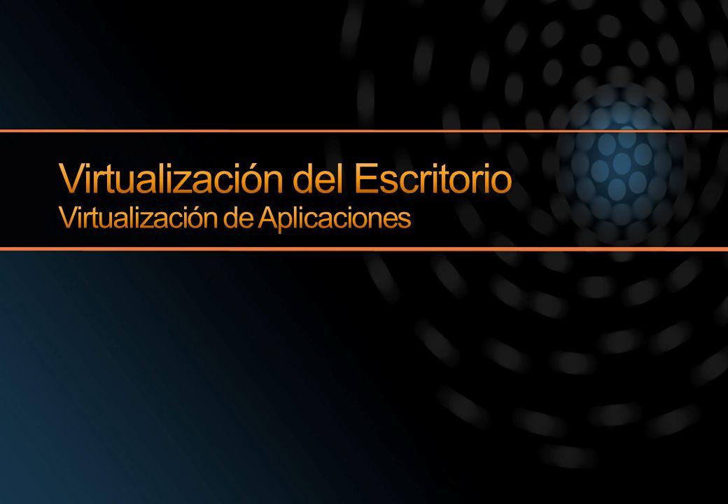 Virtualización del Escritorio Virtualización de Aplicaciones