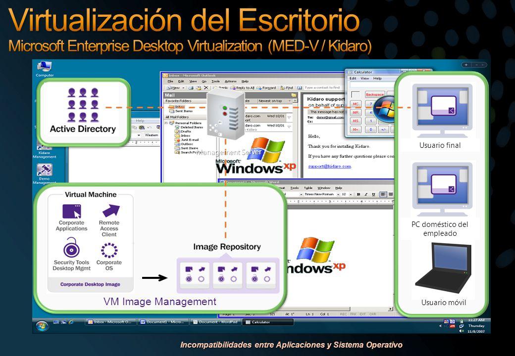 Incompatibilidades entre Aplicaciones y Sistema Operativo