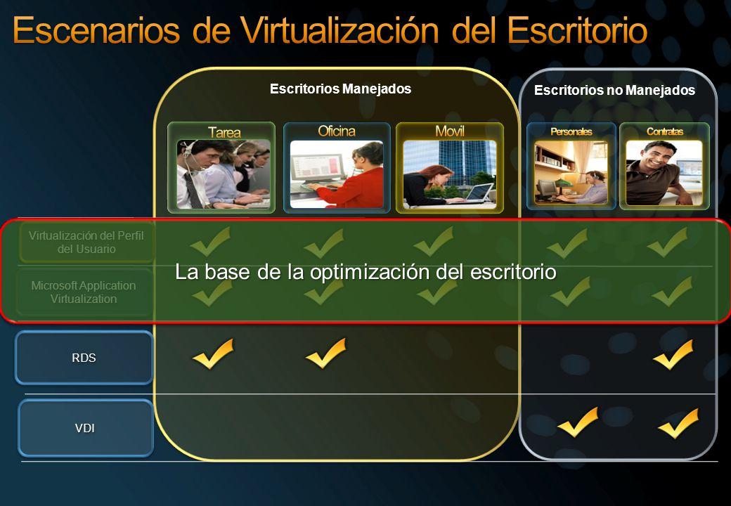 Escenarios de Virtualización del Escritorio