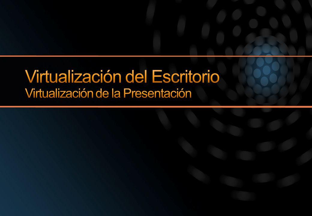 Virtualización del Escritorio Virtualización de la Presentación